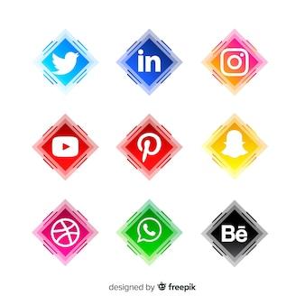Réseaux sociaux logo collectio