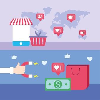 Réseaux sociaux mondiaux et commerce numérique
