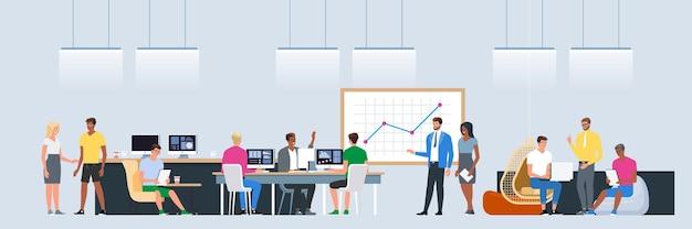 Réseaux sociaux et systèmes de communication de concept de travail d'équipe