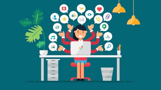 Réseaux sociaux virtuels web