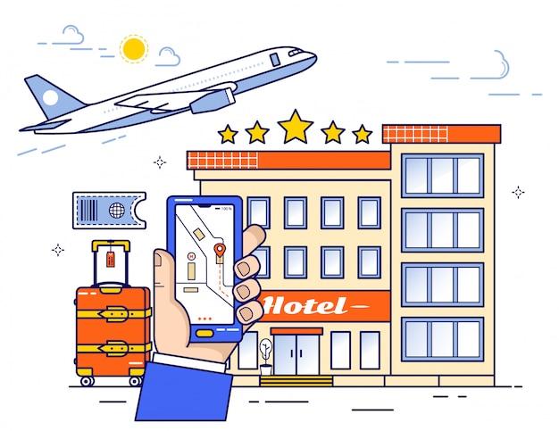Réservation de billets d'avion et d'hôtel