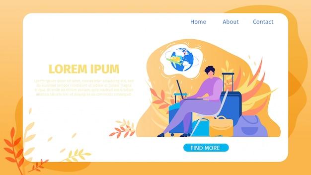 Réservation de billets d'avion site web service vector