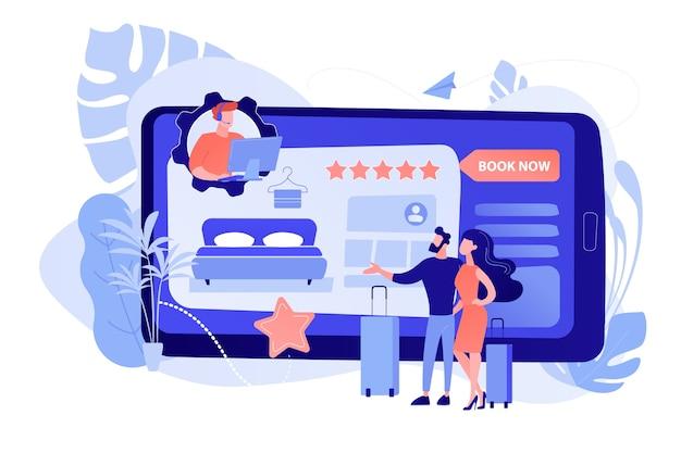 Réservation de salle, support client en ligne, consultation. bureau d'accueil virtuel