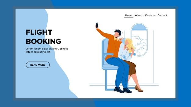 Réservation de vol service internet en ligne
