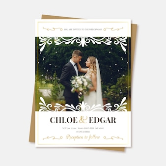 Réservez le mariage de date avec photo