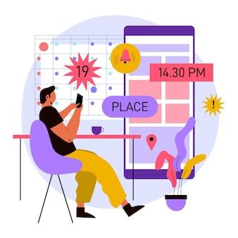 Réservez vos journées importantes sur smartphone
