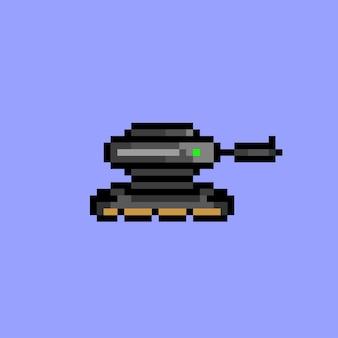 Réservoir noir avec pixel art
