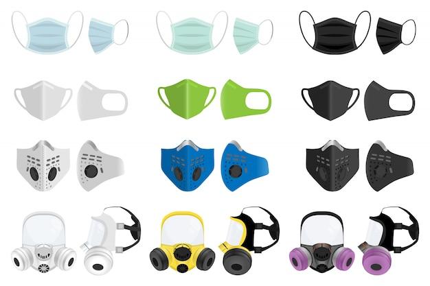 Respirer des masques médicaux et des respirateurs.