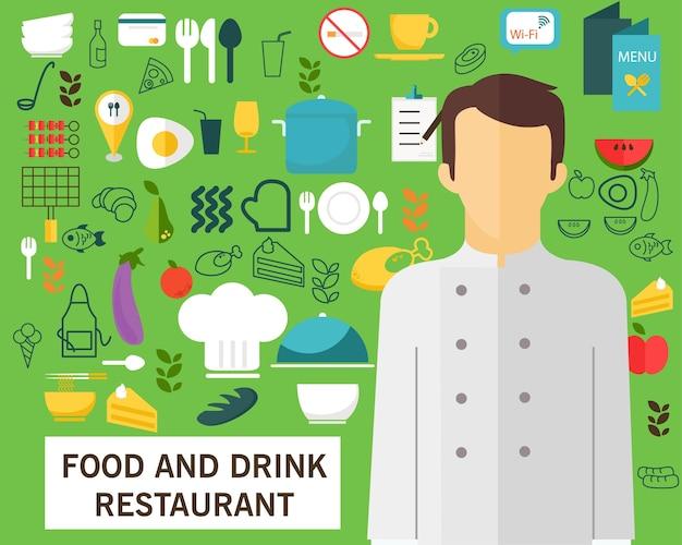 Restaurant alimentaire et de déjeuner