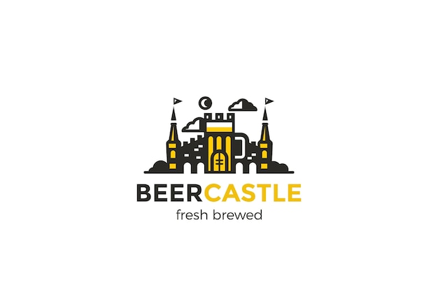 Restaurant bar beer castle logo