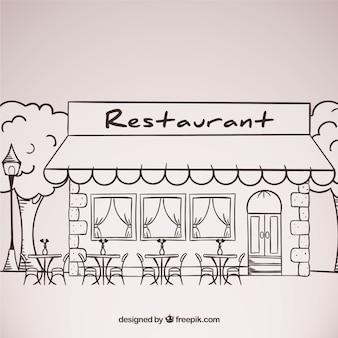 Restaurant croquis façade