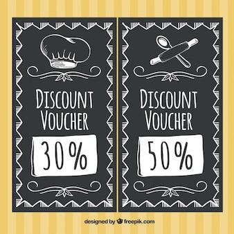 Restaurant discount dans le style tableau noir