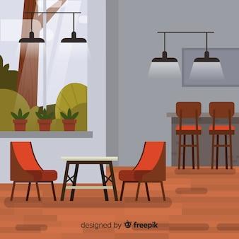 Restaurant élégant avec un design plat