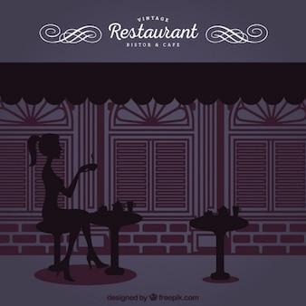 Restaurant élégant et vintage