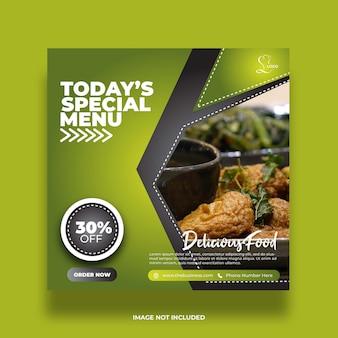 Restaurant food menu spécial médias sociaux post modèle abstrait premium coloré