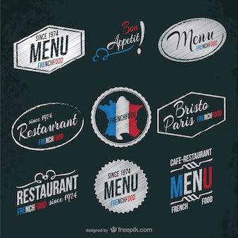 Restaurant français autocollants