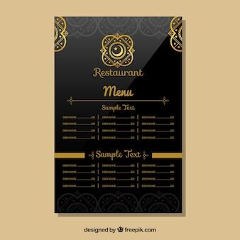 Restaurant indien modèle de menu