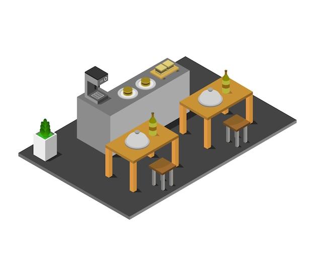 Restaurant isométrique