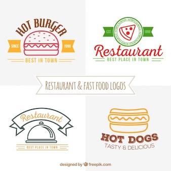 Restaurant et logos de fast-food