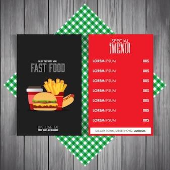 Restaurant menu modèle