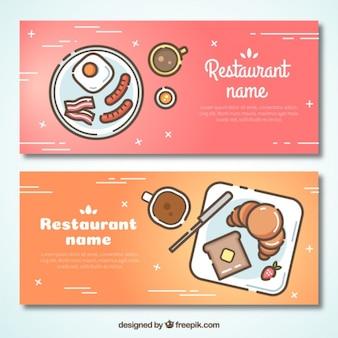 Restaurant moderne bannières