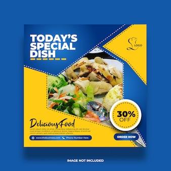Restaurant nourriture saine délicieuse promotion colorée créative publication sur les médias sociaux