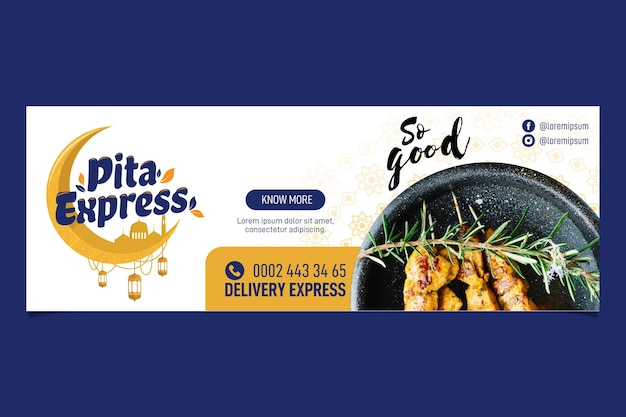 Restaurant pita express si bonne bannière