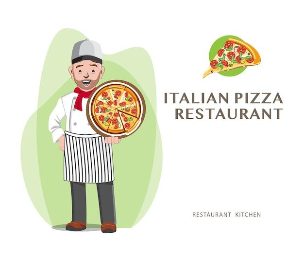 Restaurant professionnel de chef de pizza, conception de chef