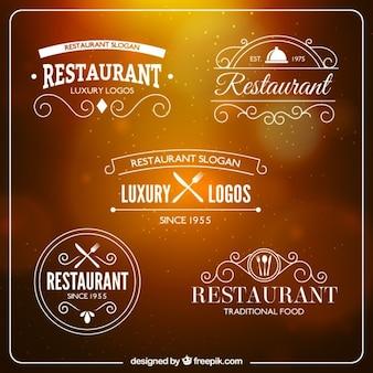 Restaurant white logos