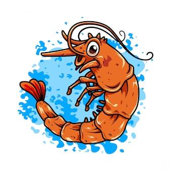 Restaurateur de crevettes de fruits de mer logo