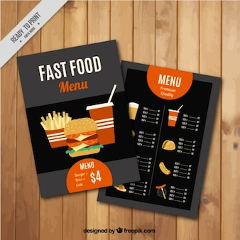 Restauration rapide menu template