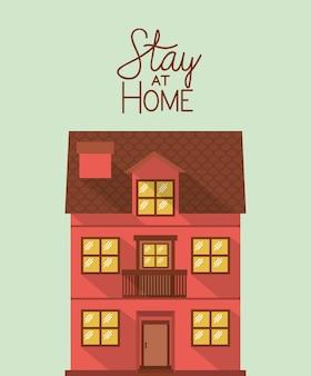 Rester à la maison et construire une maison orange