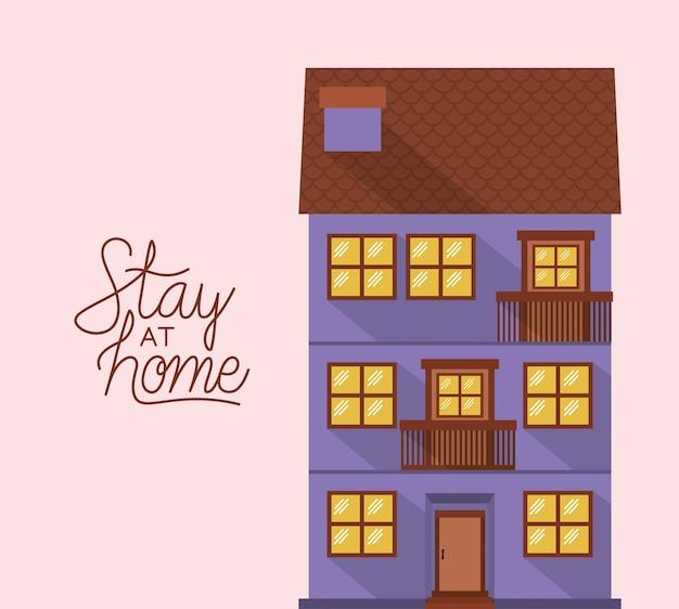 Rester à la maison et construire une maison violette