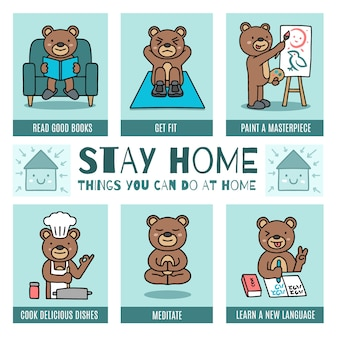 Rester à la maison infographique