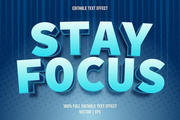 Restez concentré sur le style de dessin animé d'effet de texte modifiable