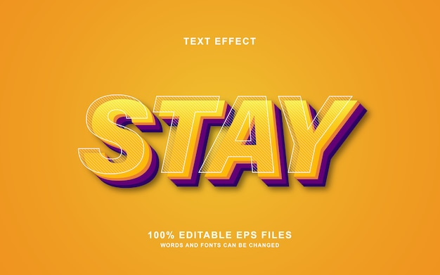Restez effet de style de texte 3d