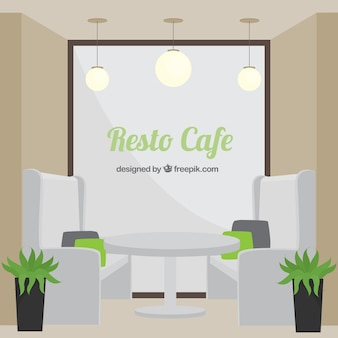 Resto café, style minimal