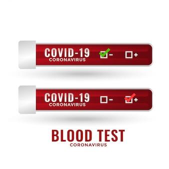 Résultat du rapport de laboratoire de test sanguin sur le coronavirus covid-19