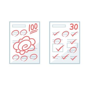 Résultats des tests papier.
