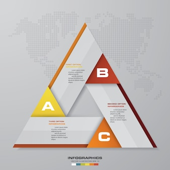 Résumé 3 étapes éléments graphiques infographie moderne.