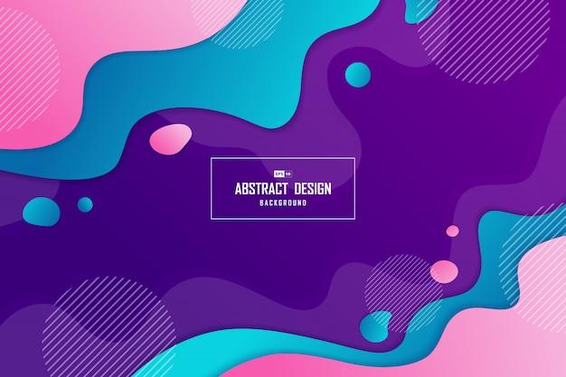 Résumé abstrait branché de fond de conception fluide élément forme motif illustration.