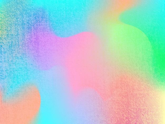 Résumé arrière-plan flou de filet de dégradé dans des couleurs vives. modèle de bannière lisse coloré avec texture denim. fond de vecteur moderne