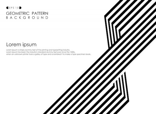Résumé de l'arrière-plan de ligne stripe op art affaires noir et blanc.