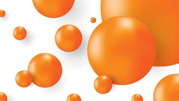 Résumé de balle orange isolé sur fond blanc.