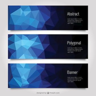 Résumé bannières polygonales