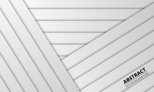 Résumé blanc avec des lignes et des ombres argentées.