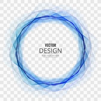 Résumé cercle bleu sur fond transparent