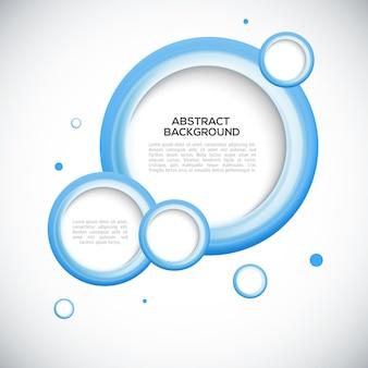 Résumé des cercles bleus 3d cadre de fond.