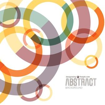 Résumé cercles colorés fond