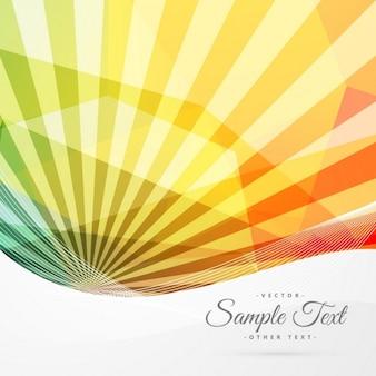 Résumé coloré fond sunburst